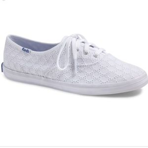 Keds Champion white eyelet sneakers
